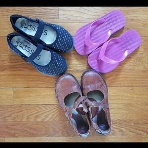 Other - Girls 13 Shoe Lot Born Leather Mary Janes